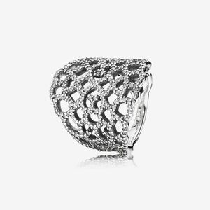 Authentic pandora shimmering lace ring!